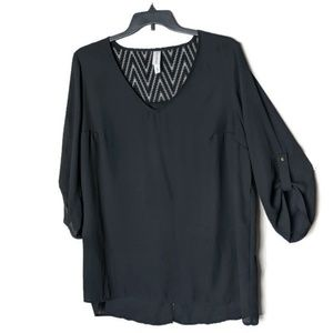 Pure Energy Black Thin Blouse